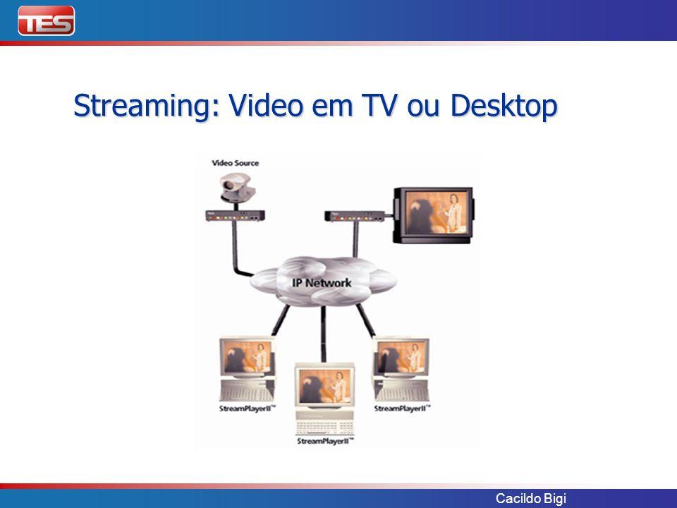 Cacildo Bigi Streaming: Video em TV ou Desktop