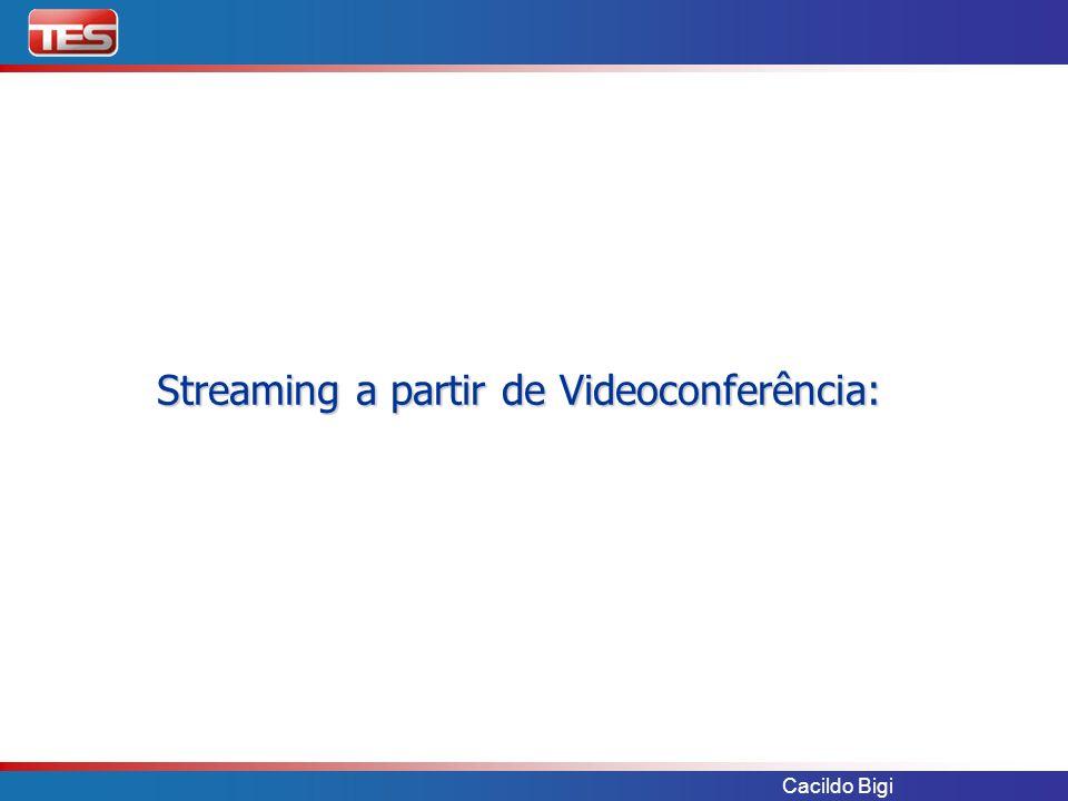 Cacildo Bigi Streaming a partir de Videoconferência: Streaming a partir de Videoconferência: