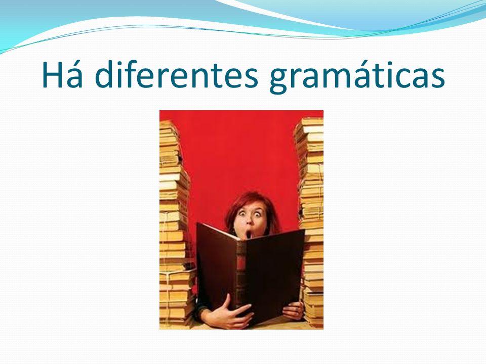Alguns exemplos: Gramática normativa Gramática internalizada