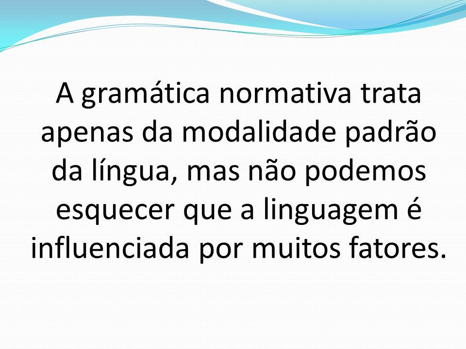 Modalidade: 1.Escrita e falada Variações linguísticas 1.
