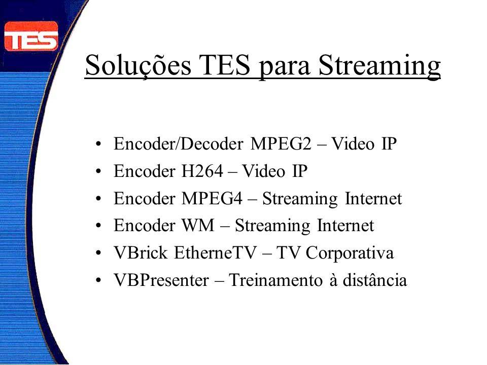 Encoder/Decoder MPEG2 – Video IP Encoder H264 – Video IP Encoder MPEG4 – Streaming Internet Encoder WM – Streaming Internet VBrick EtherneTV – TV Corp