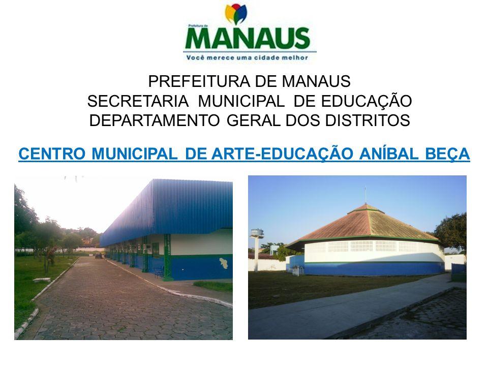 PREFEITURA DE MANAUS SECRETARIA MUNICIPAL DE EDUCAÇÃO DEPARTAMENTO GERAL DOS DISTRITOS CENTRO MUNICIPAL DE ARTE-EDUCAÇÃO ANÍBAL BEÇA