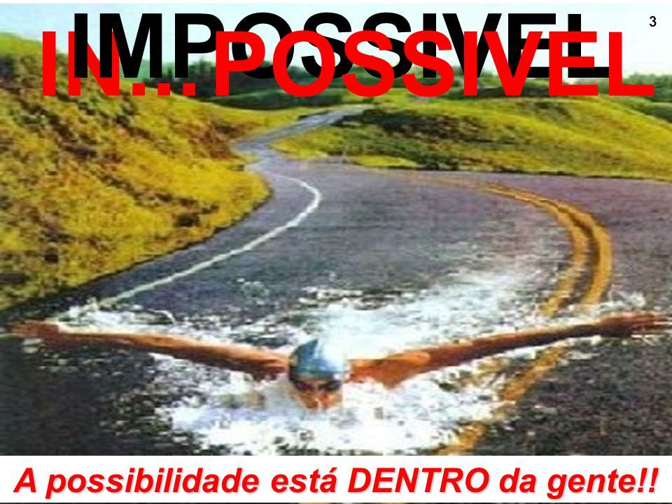 3 IN... IMPOSSIVEL POSSIVEL A possibilidade está DENTRO da gente!!