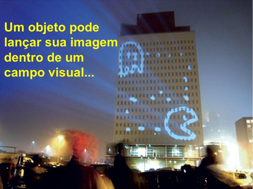 Um objeto pode lançar sua imagem dentro de um campo visual...