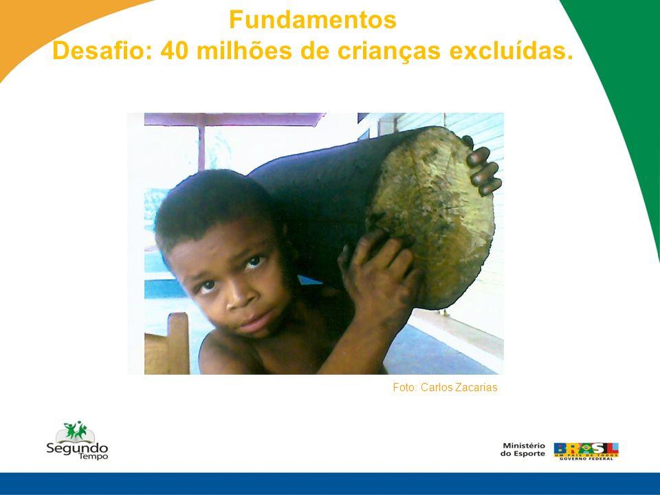 Fundamentos Desafio: 40 milhões de crianças excluídas. Foto: Carlos Zacarias