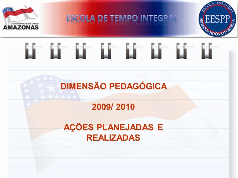DIMENSÃO PEDAGÓGICA 2009/ 2010 AÇÕES PLANEJADAS E REALIZADAS