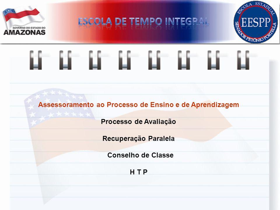 Assessoramento ao Processo de Ensino e de Aprendizagem Processo de Avaliação Recuperação Paralela Conselho de Classe H T P