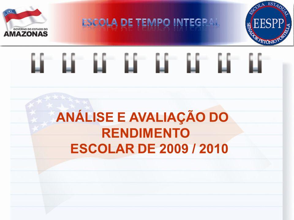 ANÁLISE E AVALIAÇÃO DO RENDIMENTO ESCOLAR DE 2009 / 2010