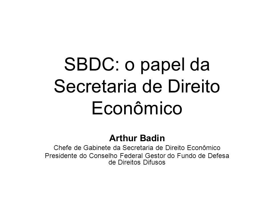 Acordo de Leniência no Brasil Benefícios: –Extinção da punibilidade administrativa: Total, caso a proposta do acordo tiver sido apresentada à SDE (art.