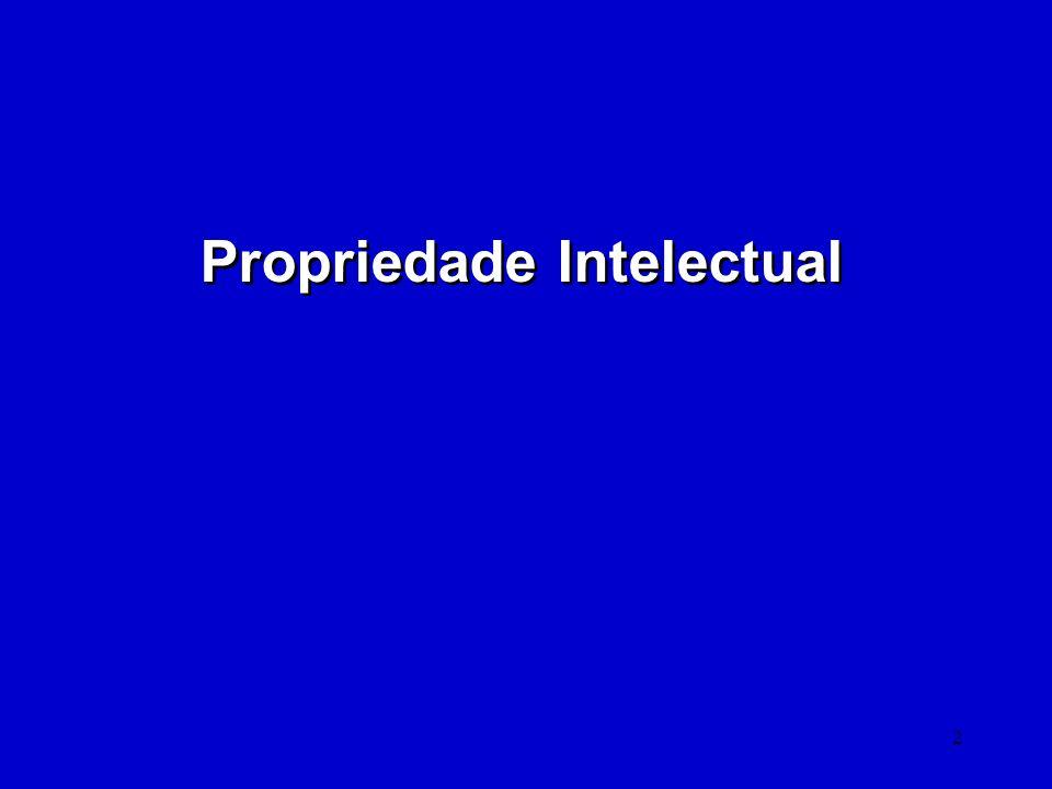 13 Uma Lógica da Propriedade Industrial (1) A sociedade se beneficia da disseminação do conhecimento.
