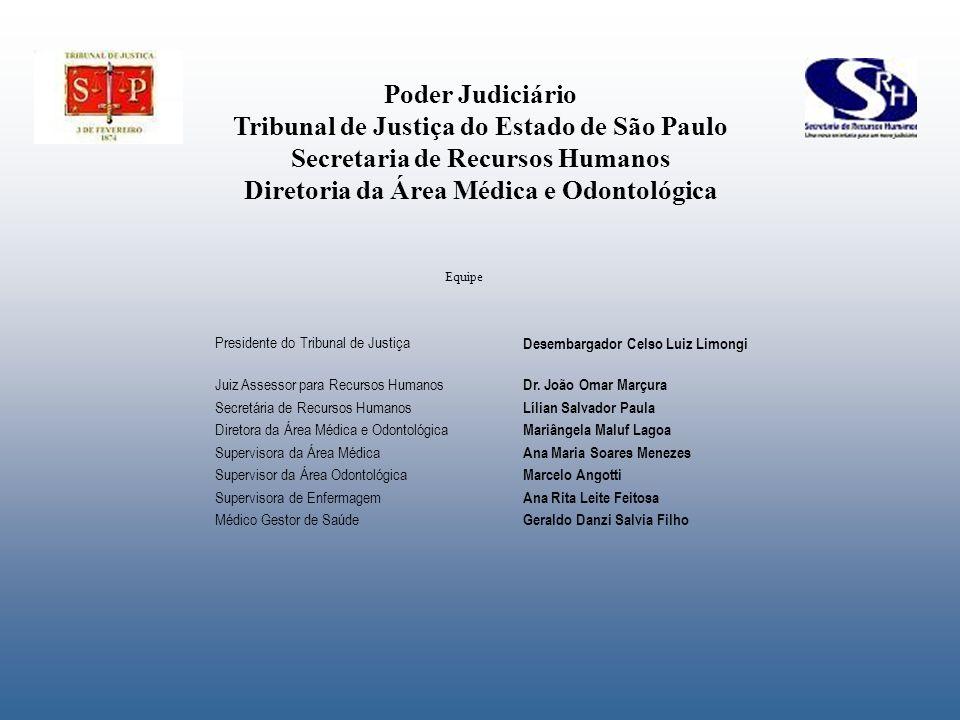 Poder Judiciário Tribunal de Justiça do Estado de São Paulo Secretaria de Recursos Humanos Diretoria da Área Médica e Odontológica Presidente do Tribu