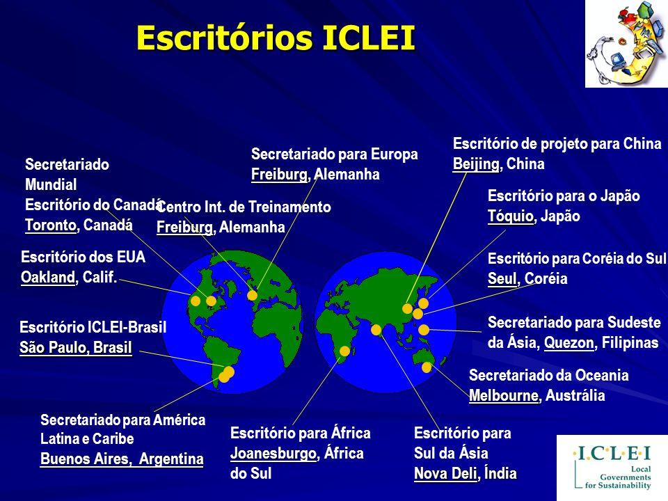 Escritórios ICLEI Secretariado Mundial Toronto Escritório do Canadá Toronto, Canadá Freiburg Secretariado para Europa Freiburg, Alemanha Joanesburgo E