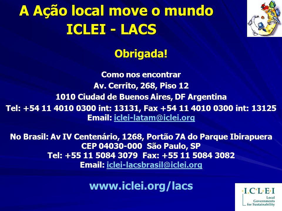 Obrigada! Como nos encontrar Av. Cerrito, 268, Piso 12 1010 Ciudad de Buenos Aires, DF Argentina Tel: +54 11 4010 0300 int: 13131, Fax +54 11 4010 030