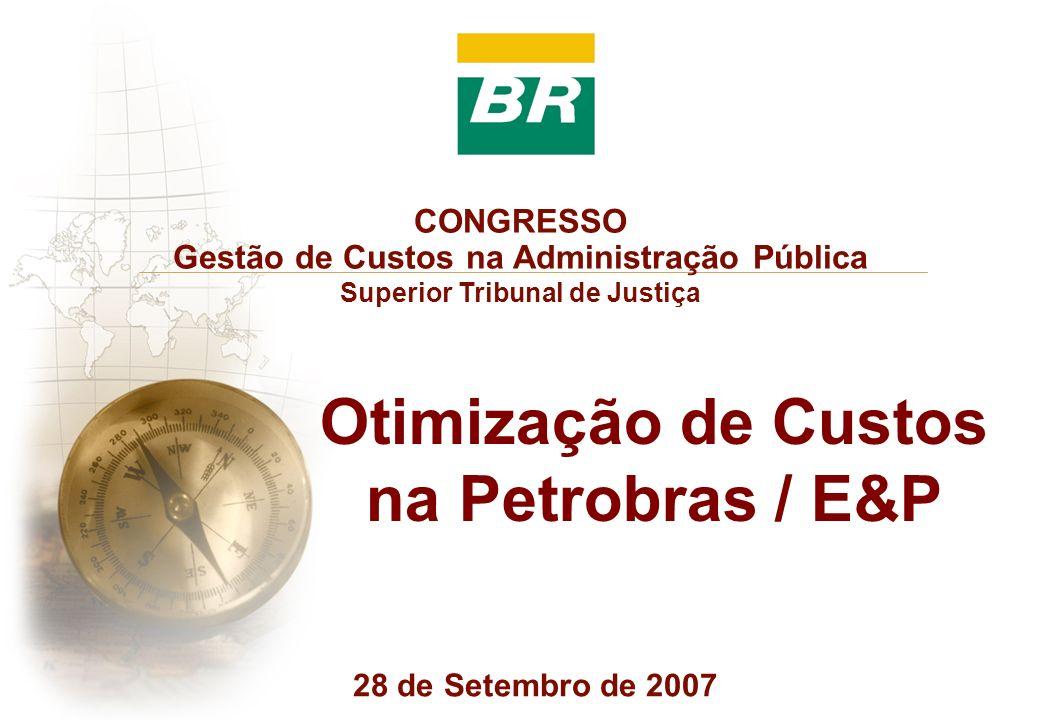 Otimização de Custos na Petrobras / E&P CONGRESSO Gestão de Custos na Administração Pública Superior Tribunal de Justiça 28 de Setembro de 2007