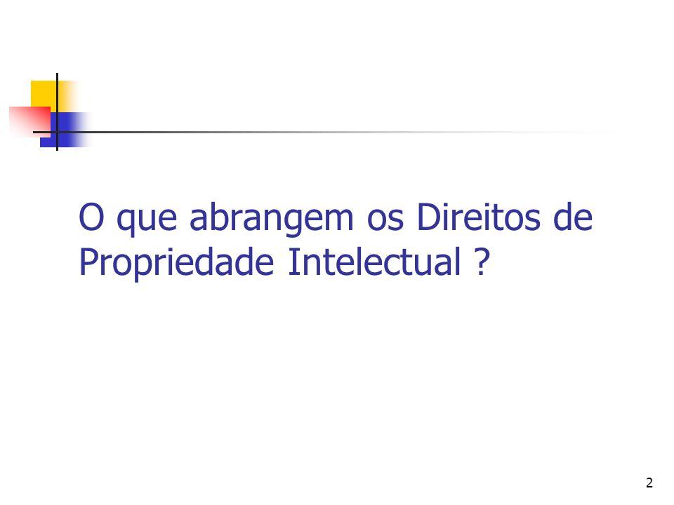 2 O que abrangem os Direitos de Propriedade Intelectual ?