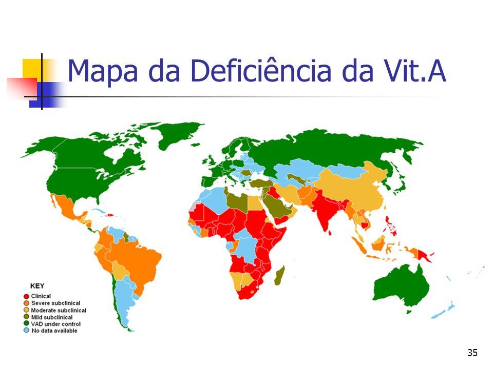 35 Mapa da Deficiência da Vit.A