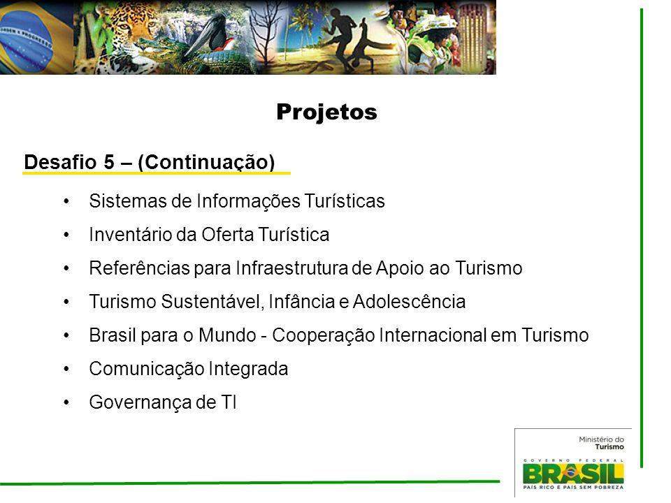 Projetos Sistemas de Informações Turísticas Inventário da Oferta Turística Referências para Infraestrutura de Apoio ao Turismo Turismo Sustentável, In