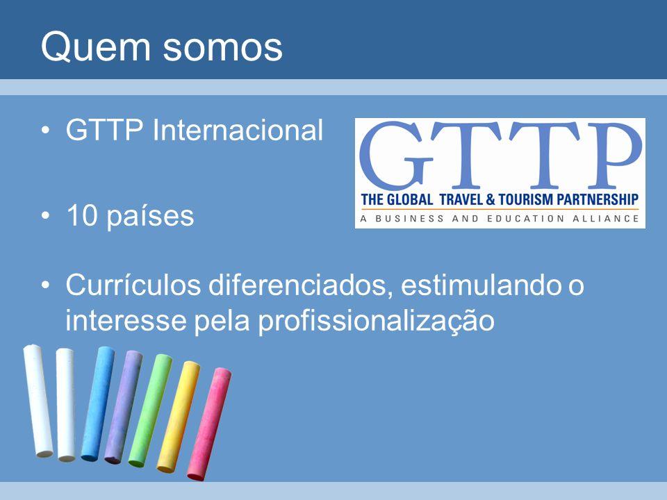 Quem somos GTTP Internacional 10 países Currículos diferenciados, estimulando o interesse pela profissionalização