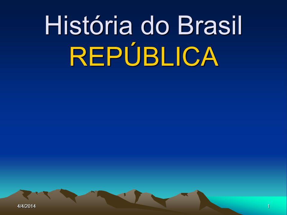 4/4/20141 História do Brasil REPÚBLICA