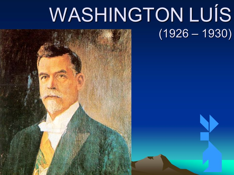 4/4/2014100 WASHINGTON LUÍS (1926 – 1930)