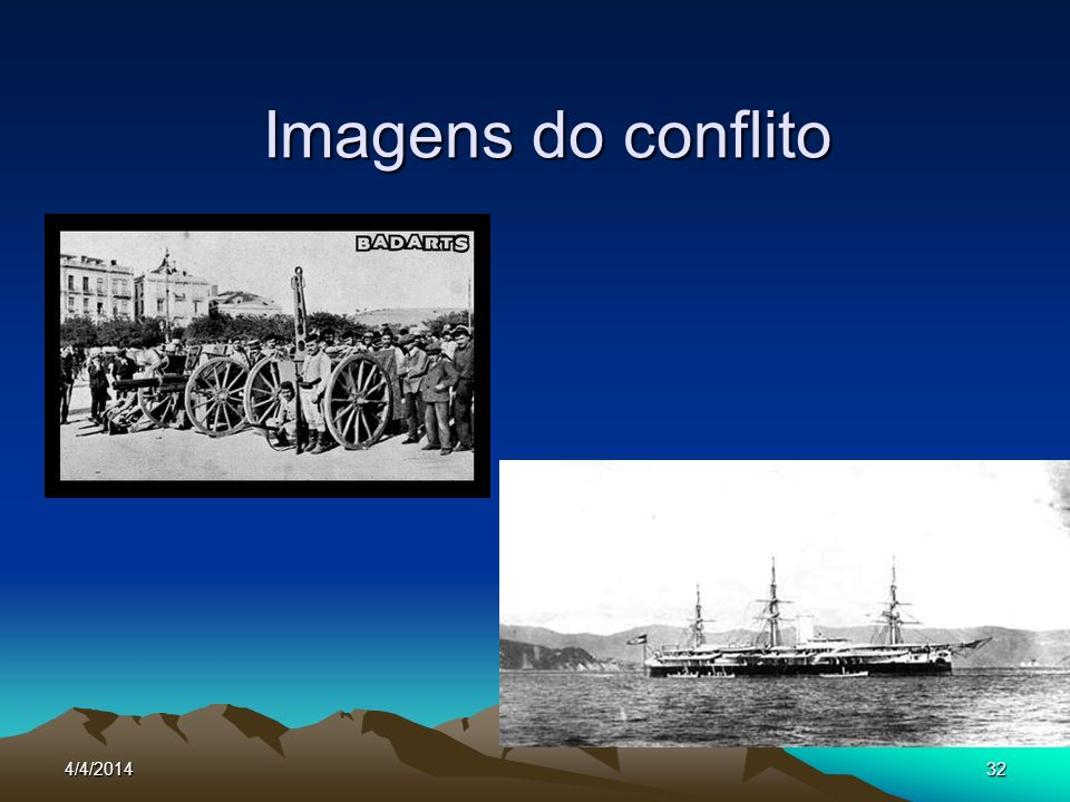 4/4/201433 REVOLUÇÃO FEDERALISTA Iniciada em fevereiro de 1893, no Rio Grande do Sul.