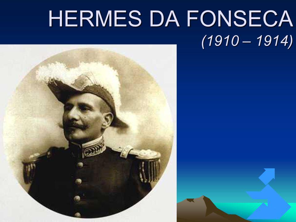 4/4/201466 HERMES DA FONSECA (1910 – 1914) Revolta da Chibata (1910) Guerra do Contestado (1912 – 1916)