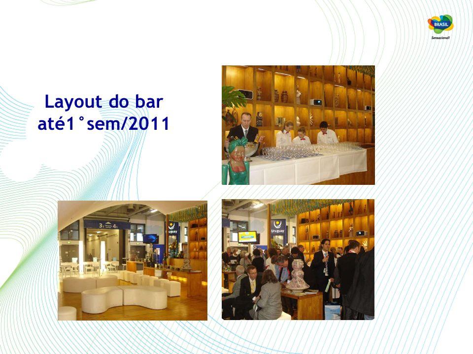 Layout do bar a partir do 2°sem/2011