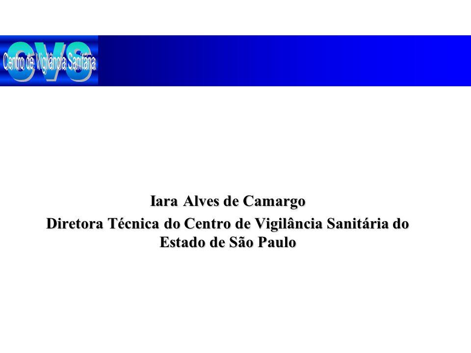 Iara Alves de Camargo Diretora Técnica do Centro de Vigilância Sanitária do Estado de São Paulo
