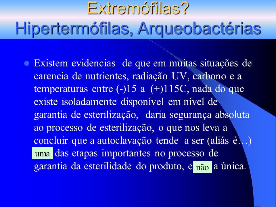 Extremófilas? Hipertermófilas, Arqueobactérias uma não