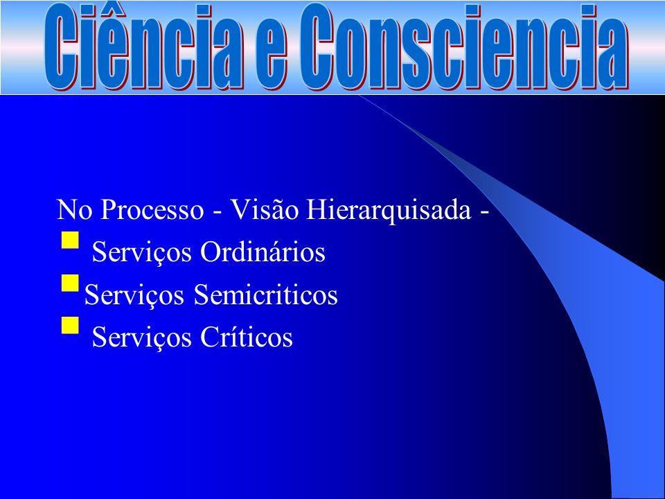 No Processo - Visão Hierarquisada - Serviços Ordinários Serviços Semicriticos Serviços Críticos