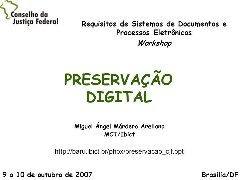 (é)...o planejamento, alocação de recursos e aplicação de métodos e tecnologias para assegurar que a informação digital de valor contínuo permaneça acessível e utilizável Margaret Hedstrom Digital Preservation: a time bomb for Digital Libraries.
