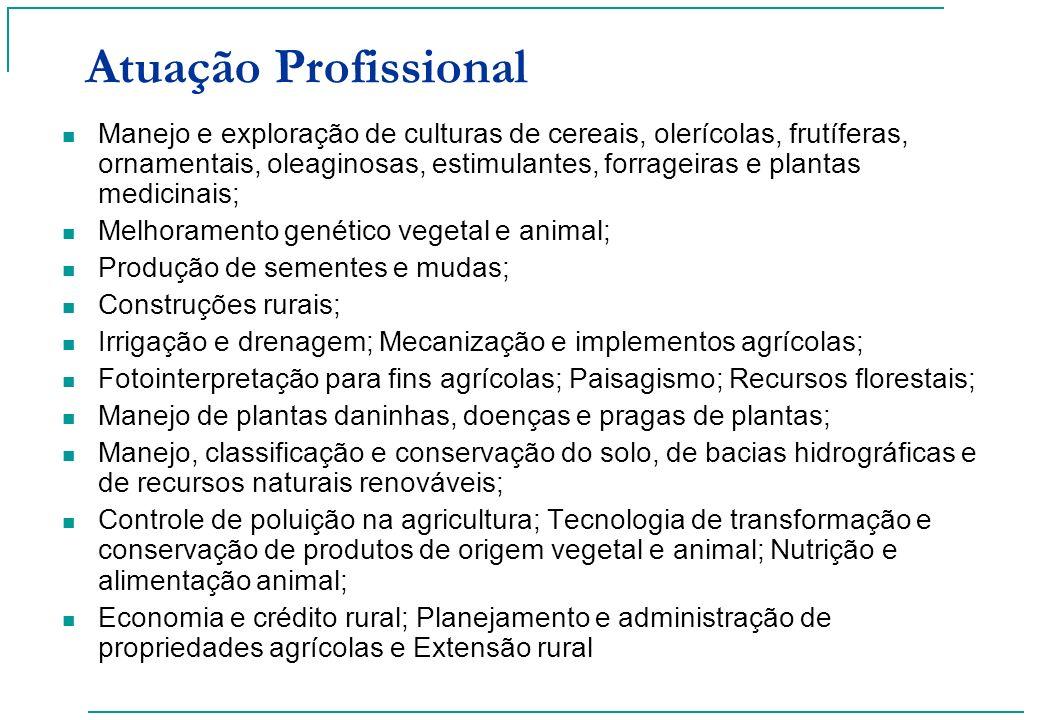 Manejo e exploração de culturas de cereais, olerícolas, frutíferas, ornamentais, oleaginosas, estimulantes, forrageiras e plantas medicinais; Melhoram