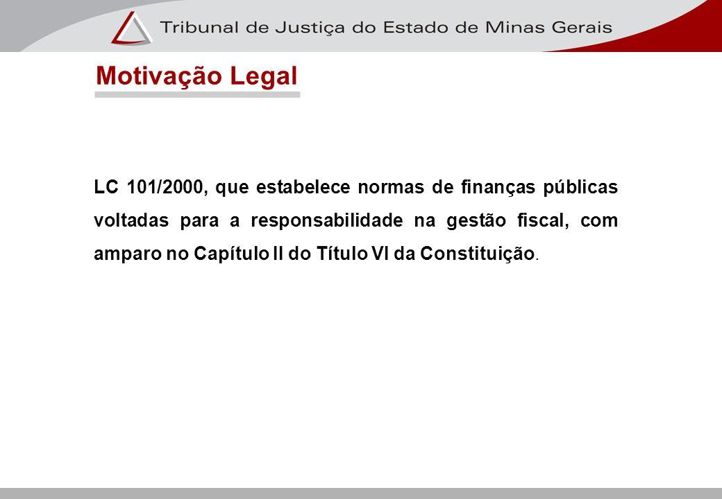LC 101/2000, que estabelece normas de finanças públicas voltadas para a responsabilidade na gestão fiscal, com amparo no Capítulo II do Título VI da C