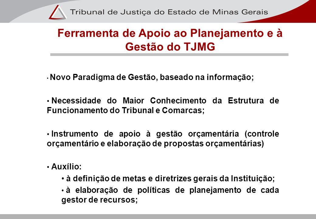 Novo Paradigma de Gestão, baseado na informação; Necessidade do Maior Conhecimento da Estrutura de Funcionamento do Tribunal e Comarcas; Instrumento d