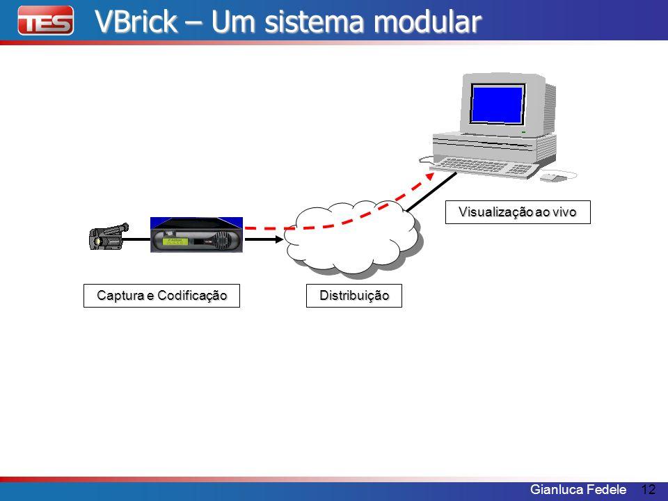 Gianluca Fedele12 VBrick – Um sistema modular Visualização ao vivo Distribuição Captura e Codificação