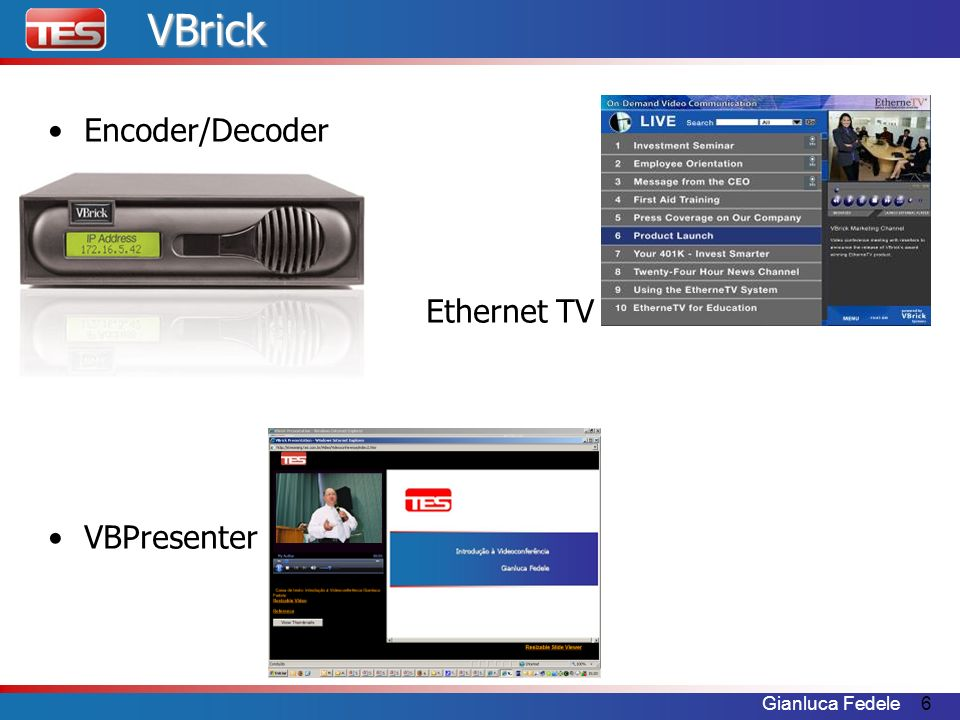 6VBrick Encoder/Decoder Ethernet TV VBPresenter
