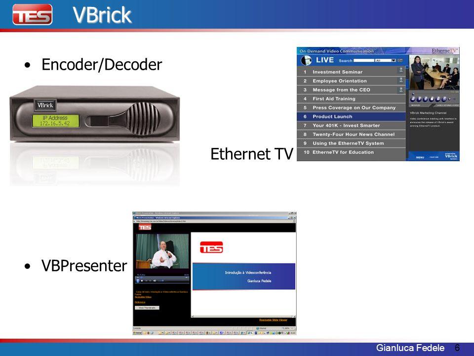 Gianluca Fedele7 A Empresa Fundada em 1997 Presente mundialmente Mercados –Corporativo –Educação –Militar –Governo –Televisivo VBrick é líder de mercado com cerca de 20000 equipamentos vendidos funcionando em milhares de clientes.