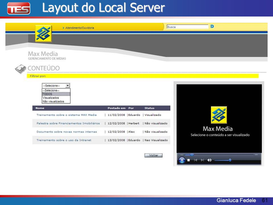 Gianluca Fedele61 Layout do Local Server