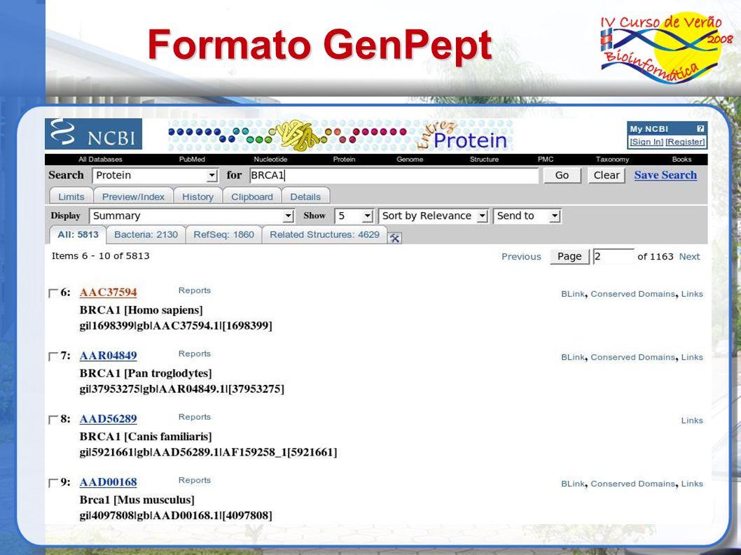 Formato GenPept