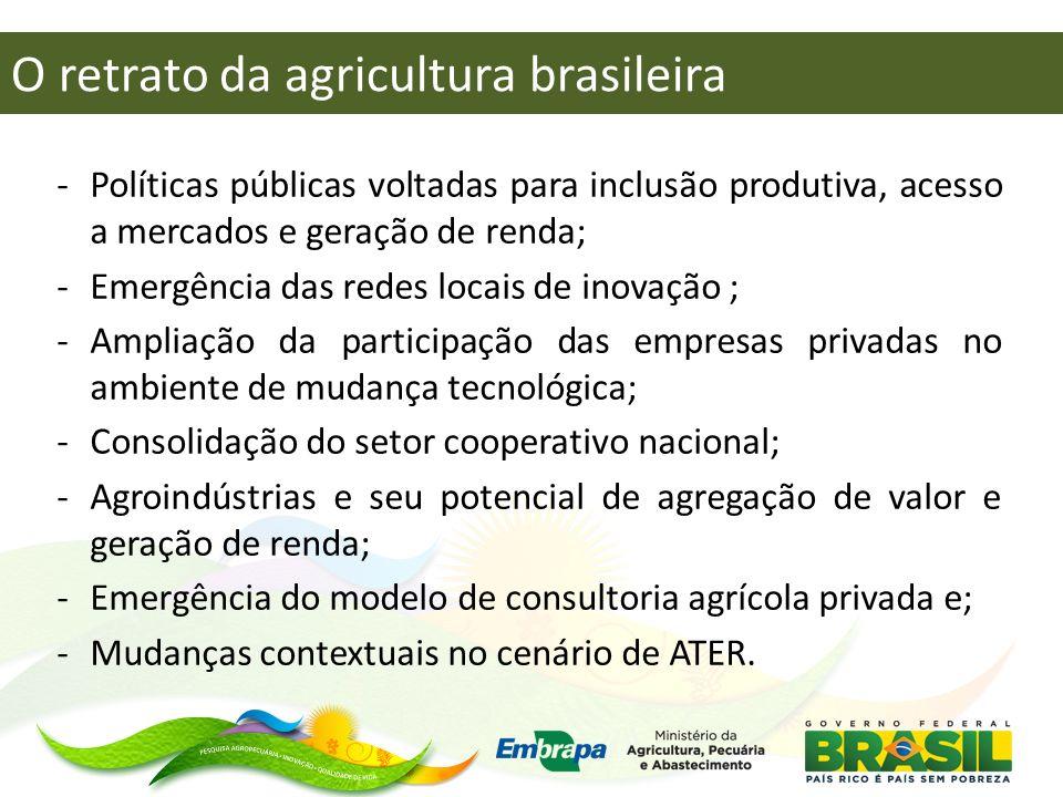 -Políticas públicas voltadas para inclusão produtiva, acesso a mercados e geração de renda; -Emergência das redes locais de inovação ; -Ampliação da p
