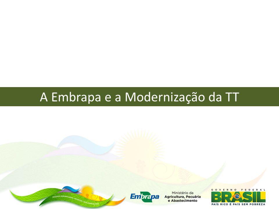 Objetivo Aumentar a agilidade do processo de Gestão da Transferência de Tecnologia na Embrapa por meio da integração com a assistência técnica pública e privada e oferta de novas modalidades de acesso ao conhecimento gerado na empresa.
