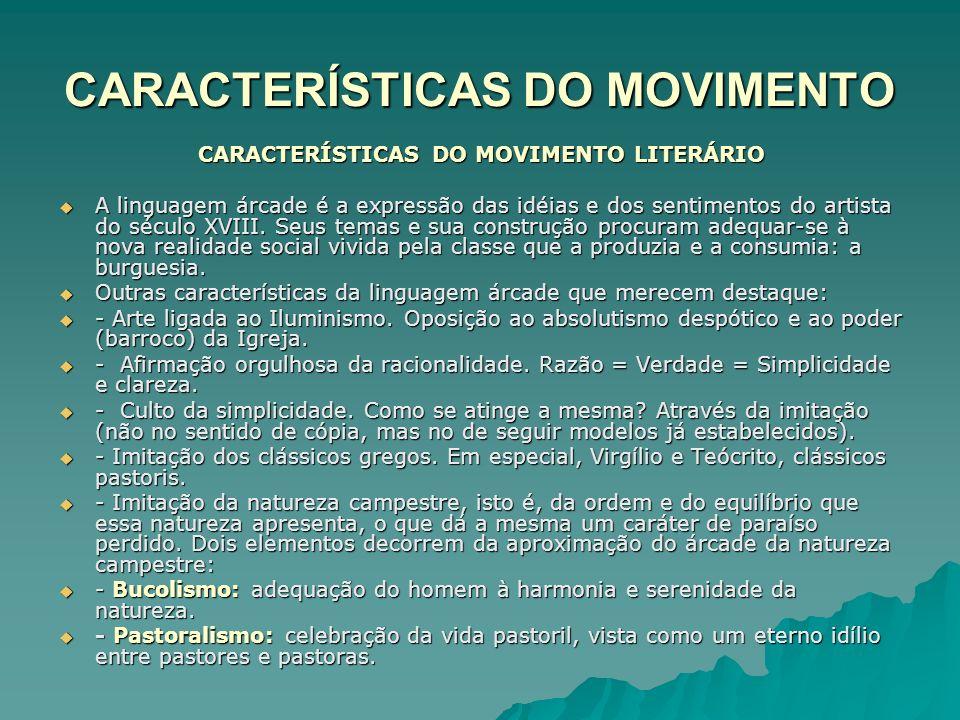 CARACTERÍSTICAS DO MOVIMENTO - Ausência de subjetividade.