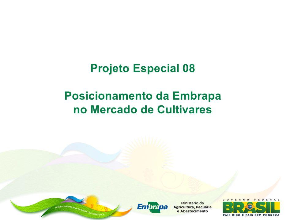 Projeto Especial 08 Posicionamento da Embrapa no Mercado de Cultivares