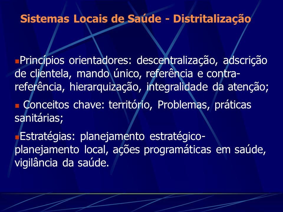 OFERTA ORGANIZADA DEMANDA ESPONTÂNEA PROGRAMAS ESPECIAIS Modelo anterior ao SUS Novo modelo assistencial DIAGRAMA DE TRANSIÇÃO PARA O NOVO MODELO ASSISTENCIAL Paim (1994)