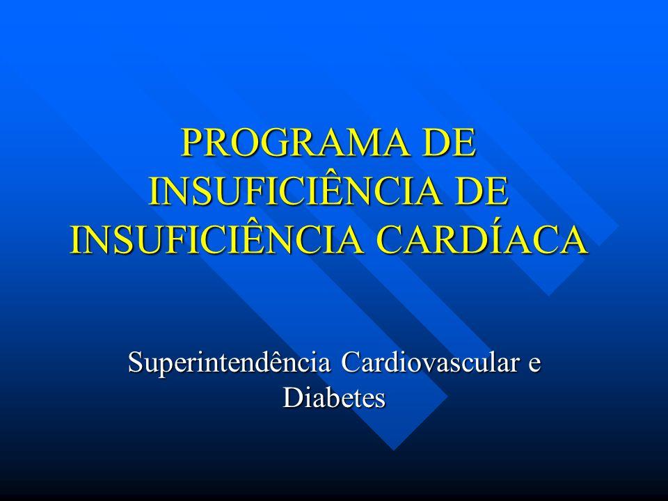 PROGRAMA DE INSUFICIÊNCIA DE INSUFICIÊNCIA CARDÍACA Superintendência Cardiovascular e Diabetes