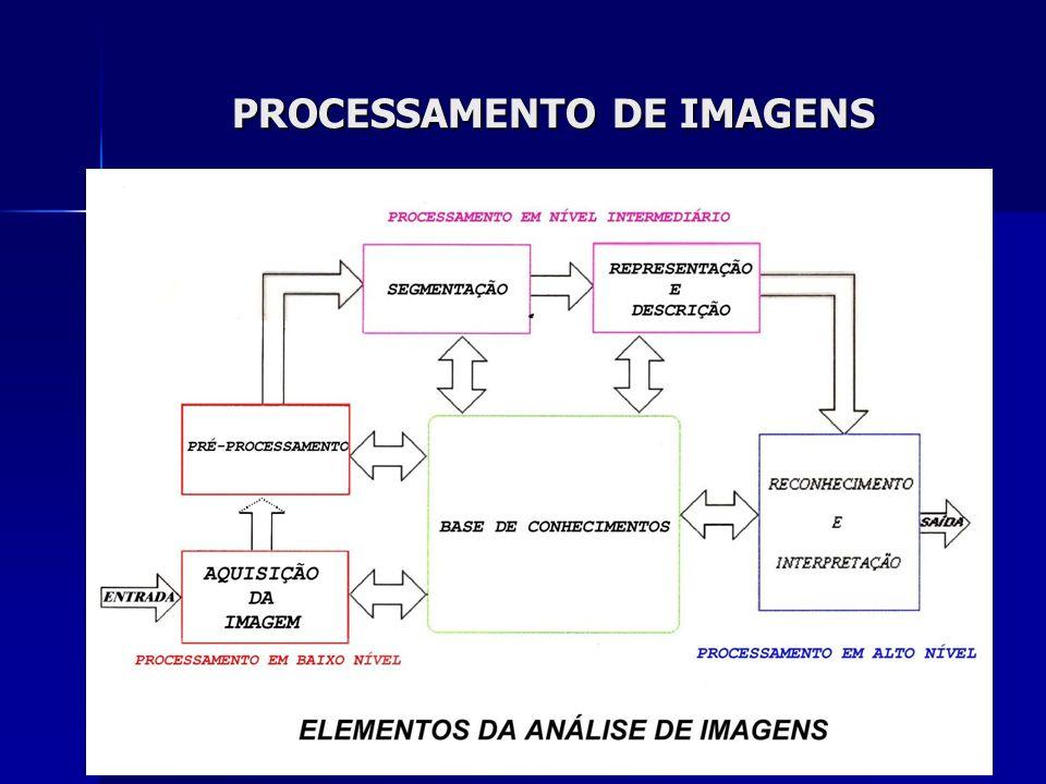 Modelo para Imagens Digitais Imagem = f(x,y) Para cada elemento (x,y) na imagem(pixel) temos um valor f(x,y) correspondente à intensidade luminosa naquele ponto.