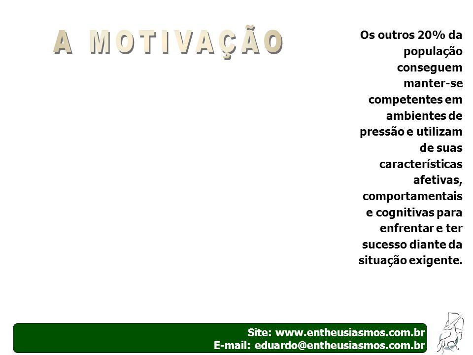 Site: www.entheusiasmos.com.br E-mail: eduardo@entheusiasmos.com.br 27 Os outros 20% da população conseguem manter-se competentes em ambientes de pres