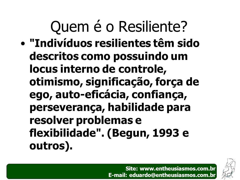 Site: www.entheusiasmos.com.br E-mail: eduardo@entheusiasmos.com.br 3 Quem é o Resiliente?