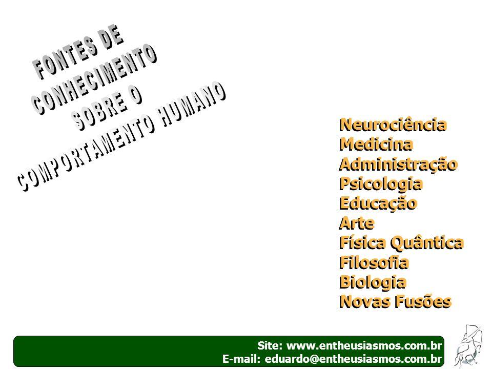Site: www.entheusiasmos.com.br E-mail: educarme@entheusiasmos.com.br A importância das emoções Todos percebemos a extrema importância das emoções dentro das empresas, pois a maior parte dos conflitos interpessoais resulta de tensões emocionais (raiva, ciúme, frustração, insegurança, desmotivação, etc) e a maioria dos encontros pessoais são resultados de algum tipo de comunhão emocional (empatia, respeito, afeição, harmonia eficiência e satisfação).
