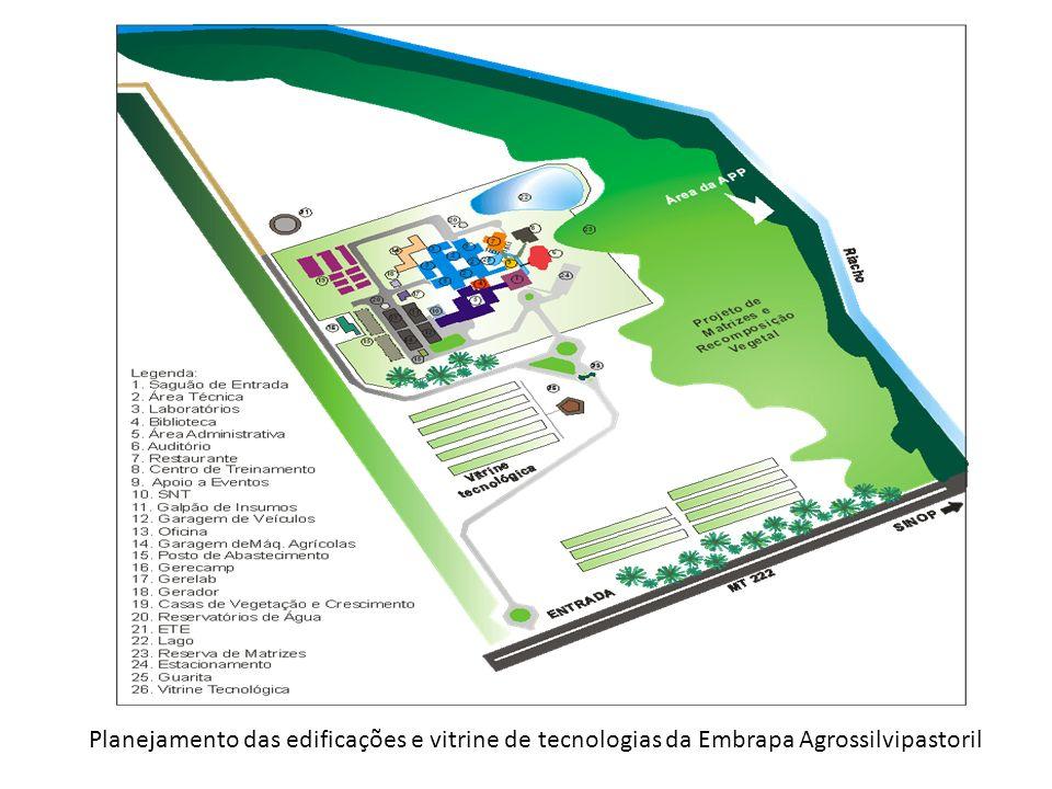 Planejamento das edificações e vitrine de tecnologias da Embrapa Agrossilvipastoril